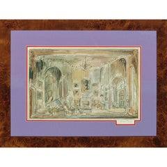 Cecil Beaton Watercolour Theatrical Set Design circa 1951