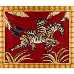 "Original Watercolour & Gouache ""Prancing Zebras"" for ""El Morocco's"" Nightclub"