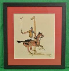 'Winston FC Guest Shelburne Polo' c.1935 Watercolor by Paul Desmond Brown