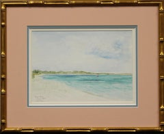 "Grace Bay Turks & Caicos 1990 Watercolor by F.A. ""Freddy"" Cushing"