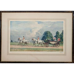 Their Majesties Return From Ascot' by Alfred J. Munnings (1878-1959):