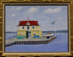 """Yacht Club Boathouse"" by G.V. Watts"
