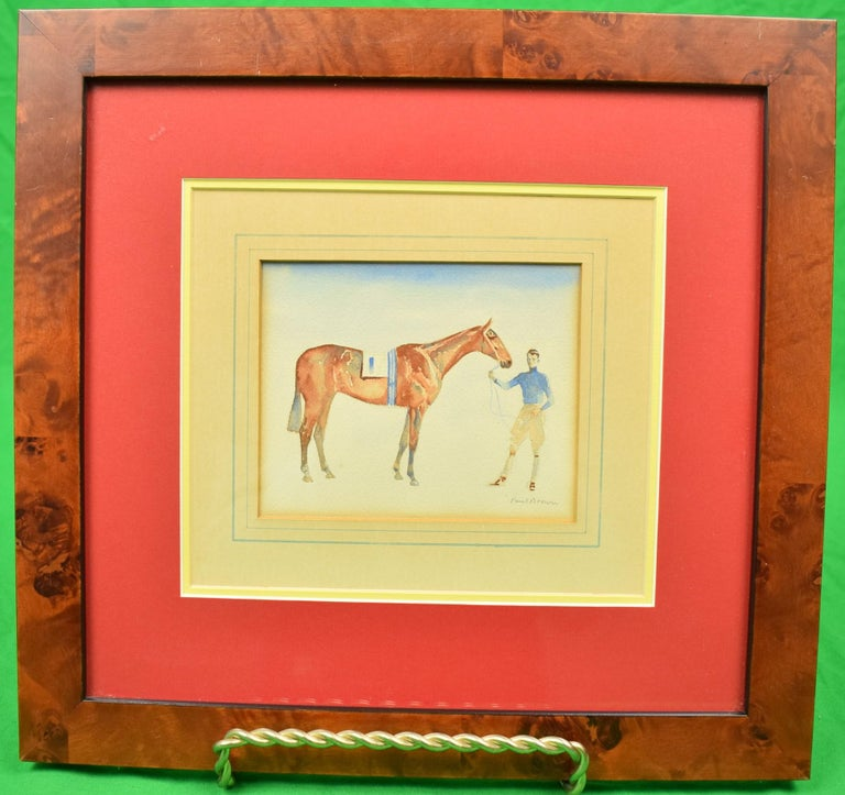 Paul Desmond Brown Figurative Art - Young Rider w/ #1 Entry
