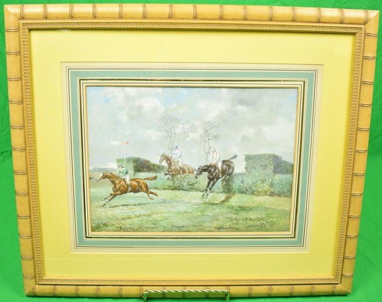 "John Beer Figurative Art - ""The Grand Military Gold Cup"" Sandown Park-05"