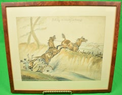"""Full Cry or Hunter's and Harness"" Watercolour by Henry Alken"