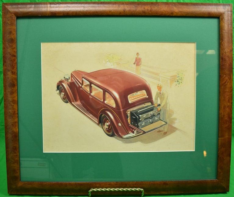 Unknown Figurative Art - English Armstrong Siddeley Motorcar Advert Illustration c1936 Artwork