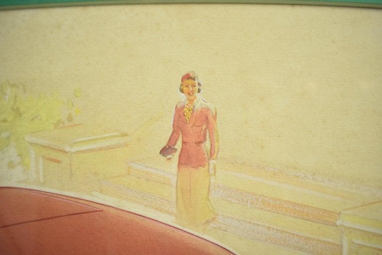 English Armstrong Siddeley Motorcar Advert Illustration c1936 Artwork For Sale 1