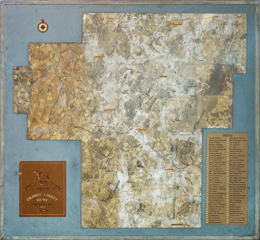 Territory Of The Orange County Hunt The Plains, VA 1946