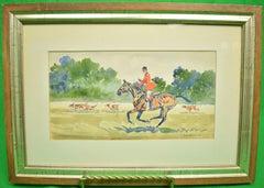 Huntsman w/ Hounds c1947 Watercolour