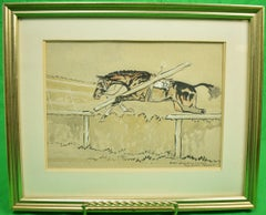 Slater Going To His Own Kind at Aintree c1935 Watercolour