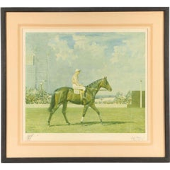 """Alfred Munnings Limited Edition Equestrian Lithograph """"Solario"""""""