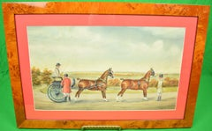 Lady Driving a Two-Horse Carriage circe 1929 Gouache by H. W. Standing