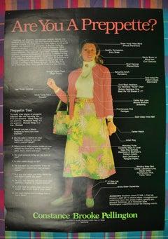 """""""Are You a Preppette?"""" Constance Brooke Pellington Color Poster"""