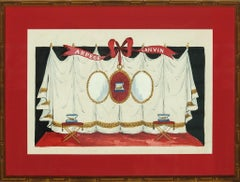 Lanvin of Paris Arpege Curtain circa 1950s Watercolour