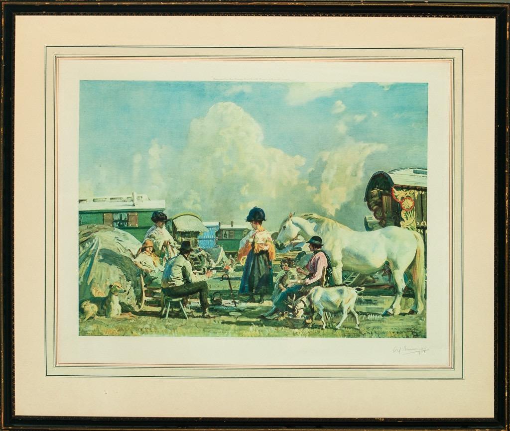 """""""Gypsy Caravan"""" 1927 F&R by Sir Alfred Munnings"""