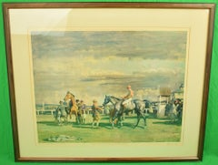 Sir Alfred Munnings After The Race c1951 Colour Litho Printed by Frost & Reed