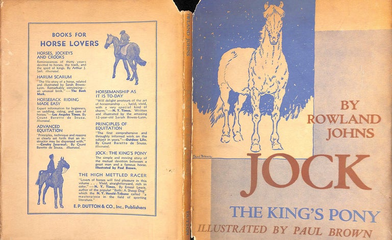 Jock: The King's Pony w/ Original Cover Artwork by Paul Brown For Sale 3