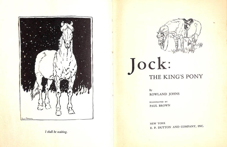 Jock: The King's Pony w/ Original Cover Artwork by Paul Brown For Sale 6