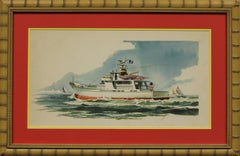 """""""Private Yacht"""" Watercolor"""