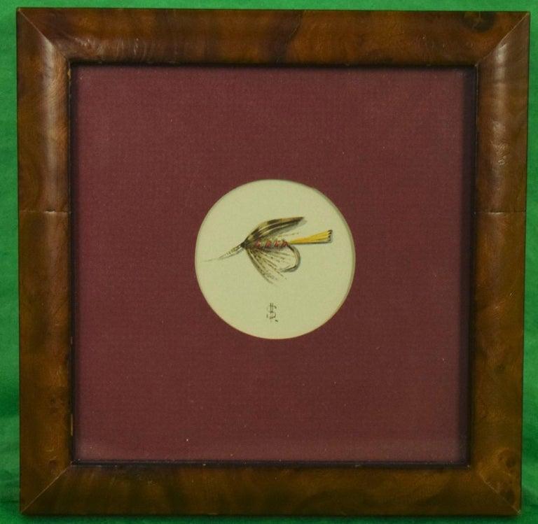 "Frame Size: 5-3/4"" Sq. Art Size: 4-1/2"" Sq.  circa 1999  Harry Spencer  UK"