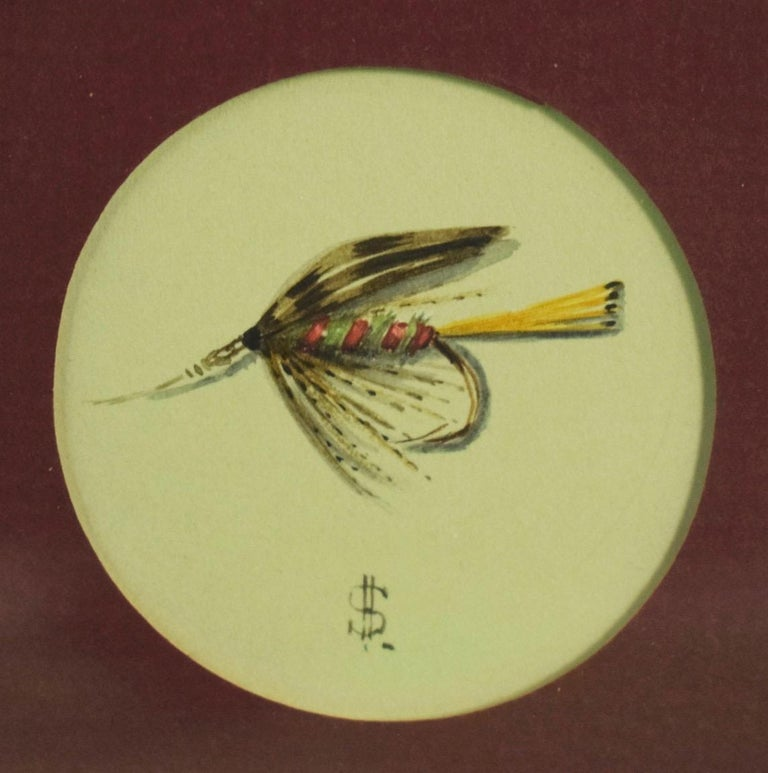 Hardys Favourite Wet Trout Fly Watercolour by Harry Spencer For Sale 1