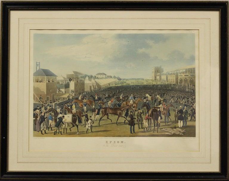 James Pollard Figurative Art - Epsom- The Race Over