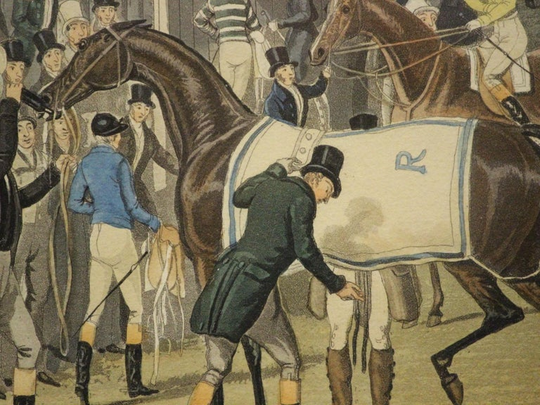 Extremely rare colour sporting aquatint engraving by James Pollard (1792-1867) depicting