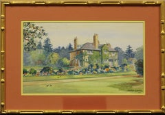 """""""English Country Estate"""" 1952 Watercolour by Montague Birrell Black"""
