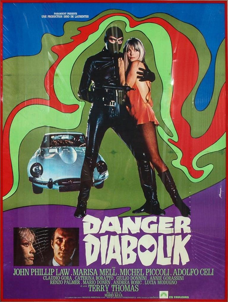 Danger Diabolik 1968 Italian Movie Poster  - Art by Unknown