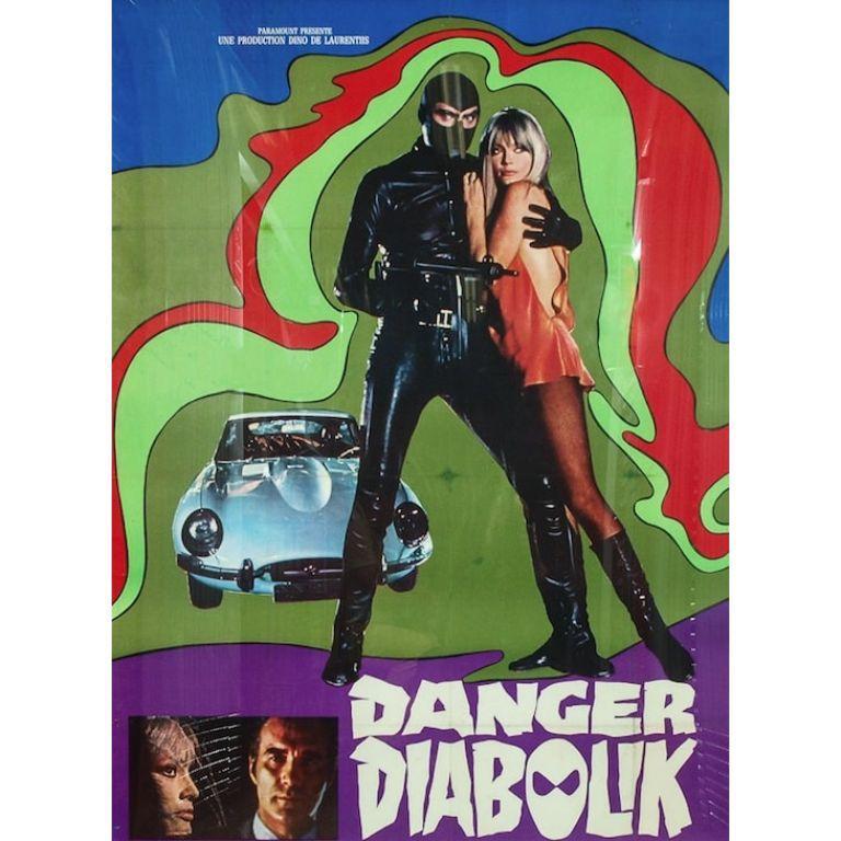 Danger Diabolik 1968 Italian Movie Poster  - Other Art Style Art by Unknown