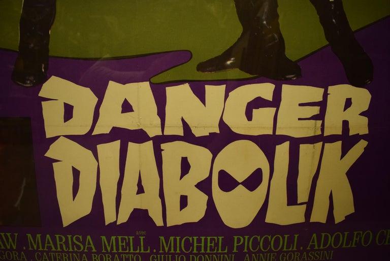Danger Diabolik 1968 Italian Movie Poster  For Sale 4