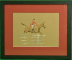 'The Foxhunter' Watercolour & Gouache