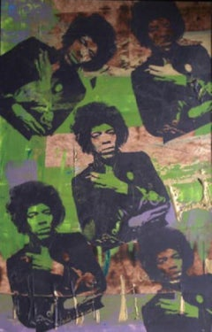 """Jimi Hendrix"" Signed Mixed Media, comes with Certificate of Authenticity"