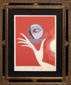 """""""Compact Vanities"""" by Erte`-Signed and Personalized Limited Edition Serigraph"""