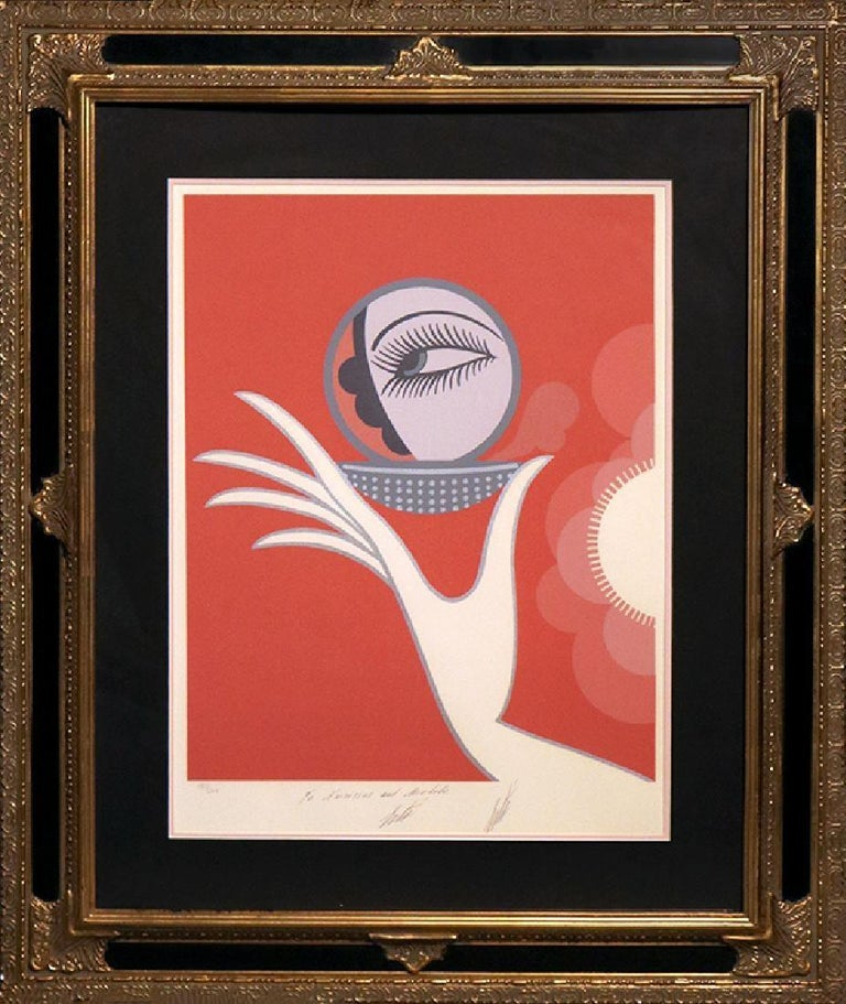 """Erté Figurative Print - """"Compact Vanities"""" by Erte`-Signed and Personalized Limited Edition Serigraph"""