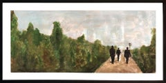 """""""Walking the Green Path"""" Mixed Media (Acrylic Painting and Photography Collage)"""