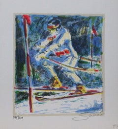 """""""Title Unknown"""" Sports-themed, Limited Edition Print. Pencil-signed by Artist"""