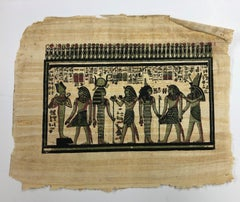 Egyptian Scene II-Painting on Rice Paper