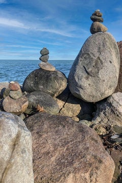 Inuksuks-Anchor Bay, Michigan (with Clouds). Photograph.