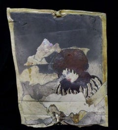 """Storm Lady"" Free-Form, Hand-Painted Raku Plaque"
