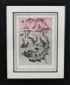 Dali III-Limited Edition Etching with Aquatint/comes with COA