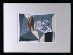 """""""Tete de Mort et Livre (1946)"""" Limited Edition Lithograph, 687/1000"""