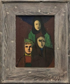 Three Figures-Original Oil on Canvas, Signed by Artist