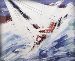 """""""Sailing"""" Framed Original Acrylic on Canvas, Signed by Artist"""