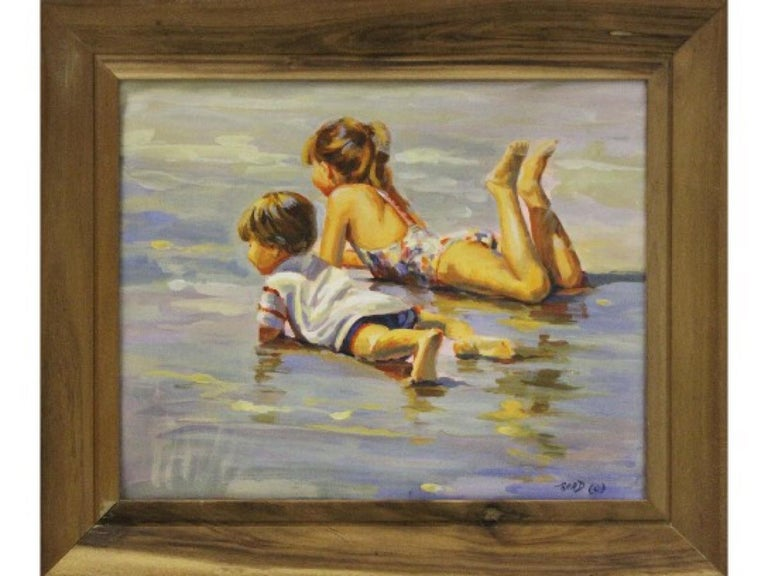 Lucelle Raad Portrait Print - Cooling Off-Limited Edition Giclee on Canvas 7/50. Signed by Artist