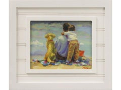 Beach Scene-Limited Edition Giclee on Canvas 2/100, Signed by Artist