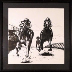Detroit Race Course (DRC)-Ink on Paper, Signed by Artist