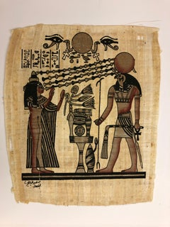 Egyptian Scene III-Painting on Pith Rice Paper
