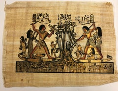 Egyptian Scene IV-Painting on Pith Rice Paper