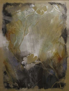 Ethereal-Framed Mixed Media Painting on Screen Canvas